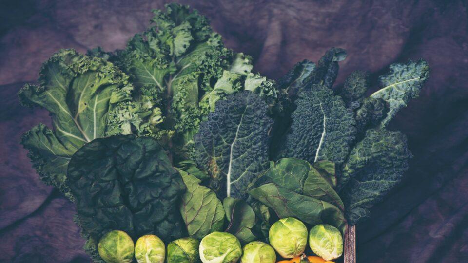 Fresh green leafy vegetables